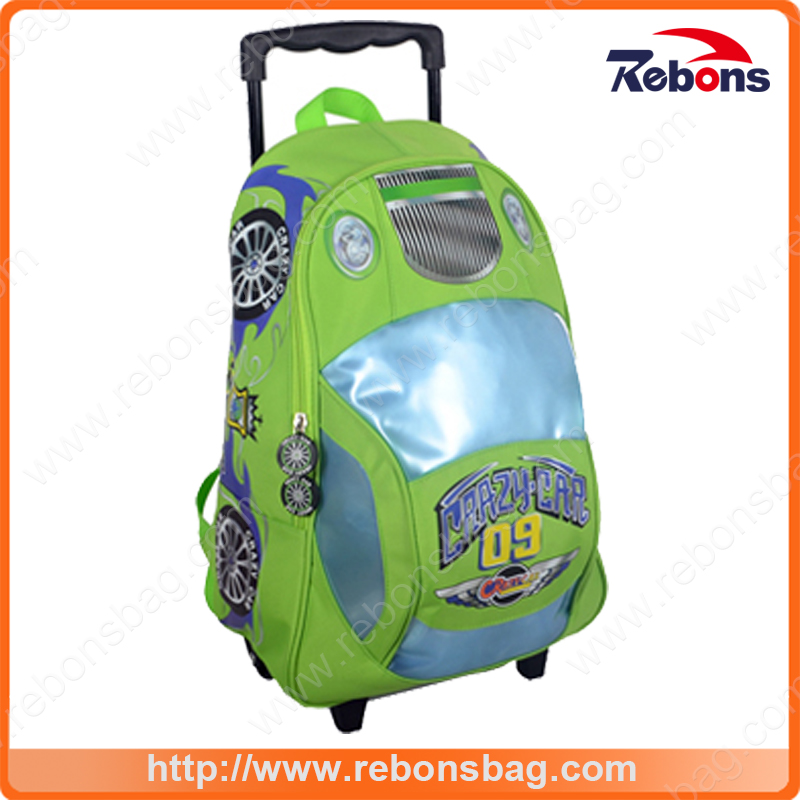 New Arrival Fashionable 3D School Car Kids Trolley School Bags