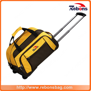 Trendy Trolley School Bags for Girls Bag Trolley Leather Trolley Bag with Stitching Colors
