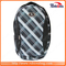 High Quality Plaid Customized Pattern Logo Waterproof Backpack for Travel Sport