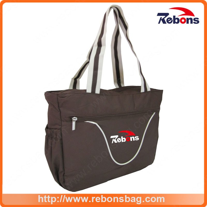 Customized Logo Designed Handbags with Adjustable Shoulder Strap