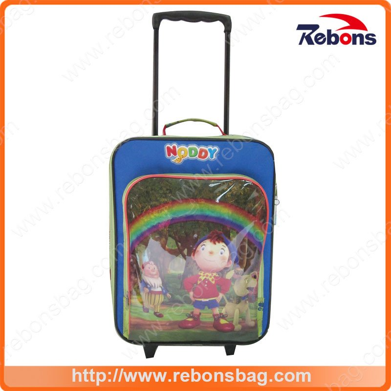 Fashion Cartoon Kids Stylish Waterproof Trolley School Bags