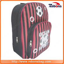 Newest Football Striped Allover Printed Design Children School Bags