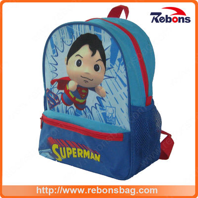Supplier Expandable High Quality Polyester Fashion Superman School Bag