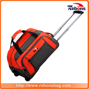 Wholesale Patchwork Children Laptop Bag with Trolley Kids Trolley School Bag