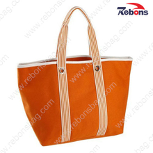 Wholesale Women Nice Plain Folding Cotton Canvas Tote Hand Bags