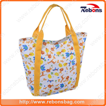 New Season Animal Vivid Print Handbags for Beach Shopping Swimming