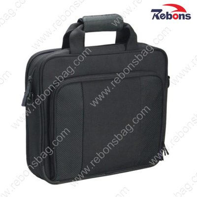 Customized Logo Black Office Business Brief Bag Computer Briefcase