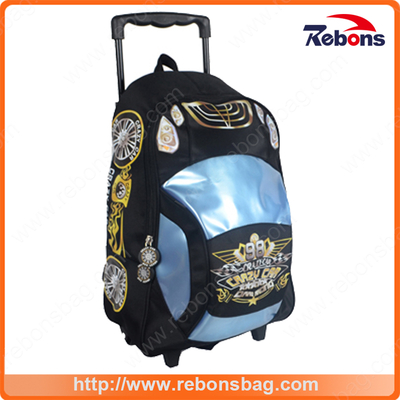 Dirt-Proof Car Jacquard Fabric Kid Trolley School Bags Wholesale for Teenagers Boys