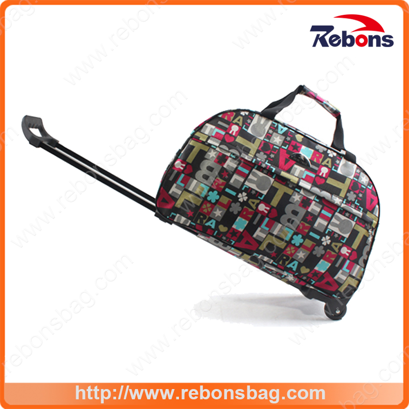 Extra Large Cabin Assorted Color Custom Travel Trolley Bag Size with Allover Monogram Printing