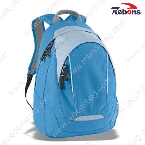 Custom Blue Polyester Hiking Travel Bag Back Pack