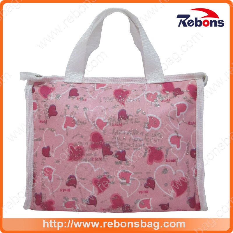 New Series Heart Printed Cute Girl School Bags Hand Bags