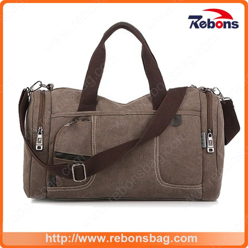 Classic Mens Canvas Travel Bag Travel Duffle Bag