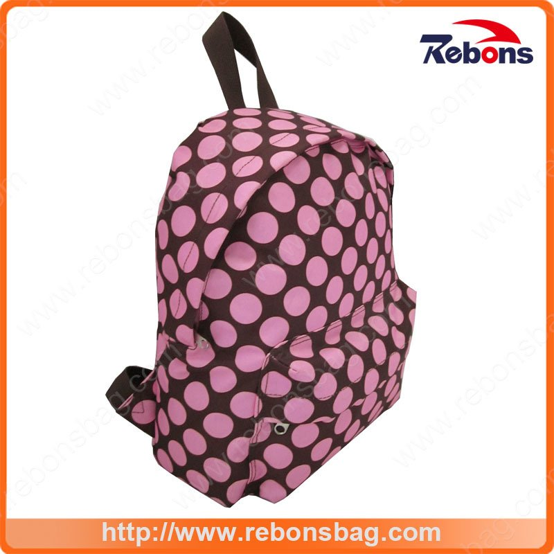 New Arrival School Allover Spotted Pattern Backpack for Teenage Girls