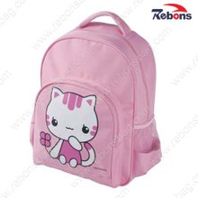 Pink Cute Cartoon Cat School Backpack Bag for Teen Girls