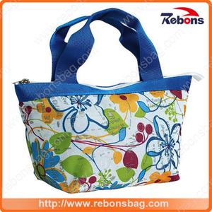 Portable Fashion Colorful Flower Printing Tote Bags