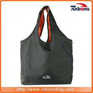 Black Promotional Custom RPET Recycled Ladies Shopping Tote Hand Bag