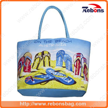 European Printed Durable Handy Beach Bag for Traveling Shopping