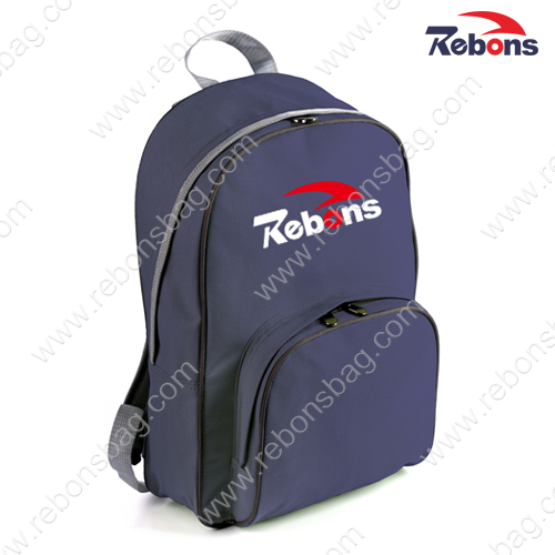 Cheap Polyester Plain Navy Hiking Backpacks for Promotion